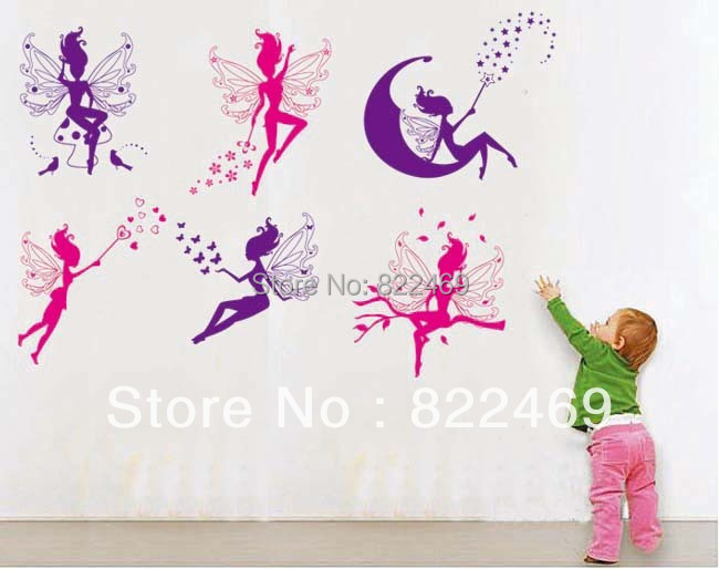 Fairy Wall Art online shop flying spirit nursery art fairy wall sticker kids
