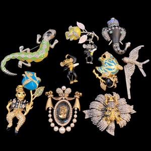 Image 3 - Amorita boutique Long nose little elephant pin exotic vintage brooch