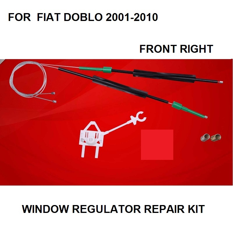 FOR FIAT DOBLO ELECTRIC WINDOW REGULATOR REPAIR KIT FRONT-RIGHT 2001-2010 NEW