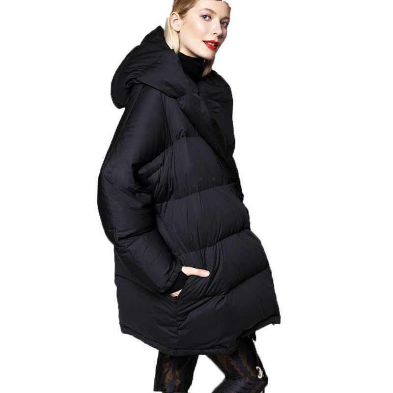 d57f29403eaec Ultra Plus Size Fashion Parka 2018 European Style Teenage Girls Duck Down  Parka Warm Winter Jacket