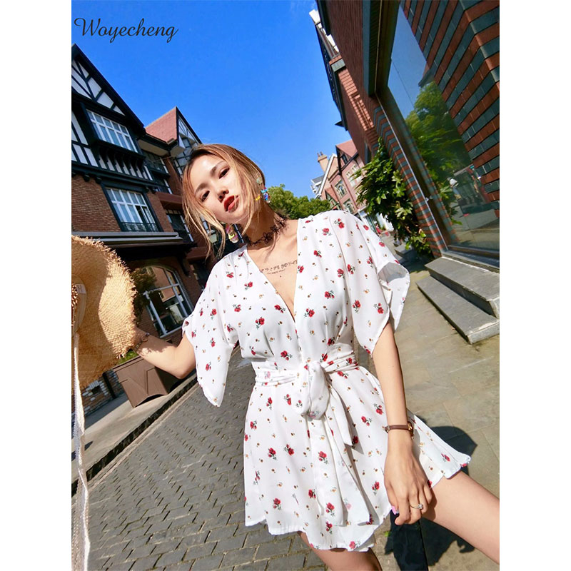 53774609f273 Summer overalls chiffon jumpsuits womens clothing in Europe and the sexy  show hilum of tall waist jumpsuits women