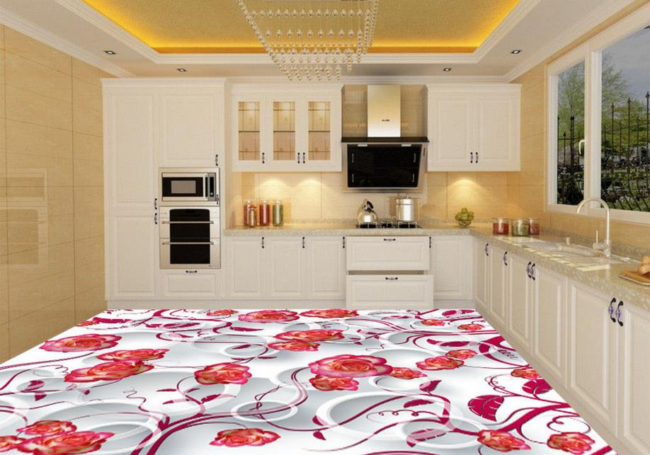 ФОТО Custom 3d photo waterproof 3d floor tiles for living room bathroom self-adhesive wallpaper pvc floor