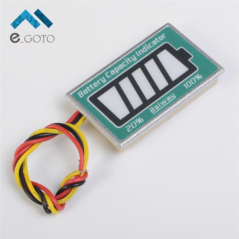 12V Lead Acid Battery Power TD05 LED Display Tester Voltage Detector Voltmeter Capacity Indicator