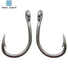 Easy Catch 30pcs 10884 Stainless Steel White Strong Big Game Fish Tuna Bait Fishing Hooks Size 3/0 4/0 5/0 6/0 7/0 8/0 9/0 10/0