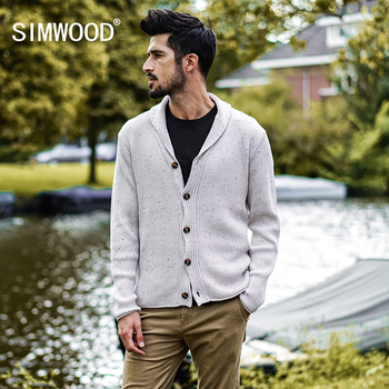 SIMWOOD 2018 Autumn Winter New Cardigan Men Casual Sweater Slim Fit Knitted Mens Sweaters Plus Size High Quality MK017007