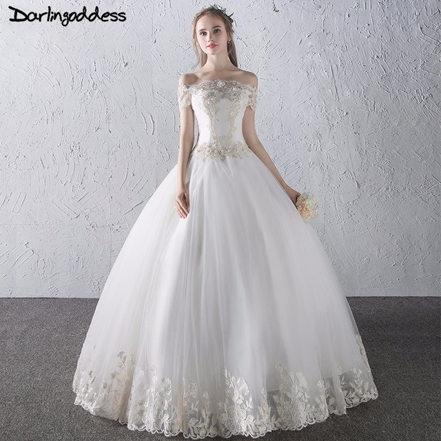 Newest Style Princess Lace Wedding Dresses Turkey Short Sleeve Luxury Ball Gown 2017 Vestido