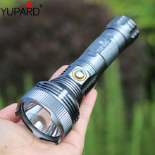 YUPARD Super Bright 1000 Lumens XM-L T6 LED Flashlight Lamp High Power Torch For Camping 26650/18650 rechargeable battery super power 3 18 xm l t6 led flashlight torch lamp flash light waterproof fishing hunting lamp use rechargeable 18650 battery