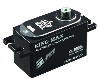KingMax CLS0905L wysokiej prędkości 51g 9 kg cyfrowy metalowe koła zębate niski profil serwo for1/8, 1/10 wyścigi samochodowe elektryczne dryf samochód w Części i akcesoria od Zabawki i hobby na  Grupa 1
