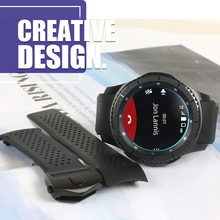 22MM Curved End Watch Bands For Samsung Galaxy Gear S3 S4 Strap Soft Rubber Silicone Watchband Man Replacement Watch Wrist Black все цены