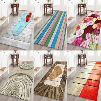 Bunte Verdickt Nicht Slip Teppich 3D Gedruckt Flanell Stoff Bereich Teppich  Für Bad Küche Wasser Saugfähigkeit Hause Boden Matte