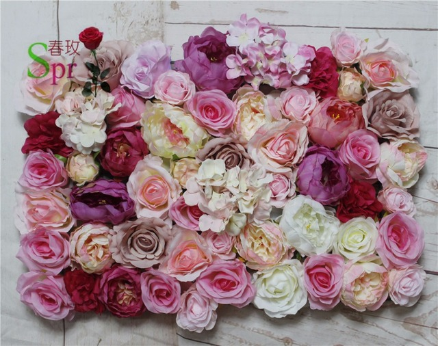 SPR Free Shipping 10pcs/lot Artificial Rose Peony U0026hydrangea Flower Wall  Wedding Backdrop Arch Table