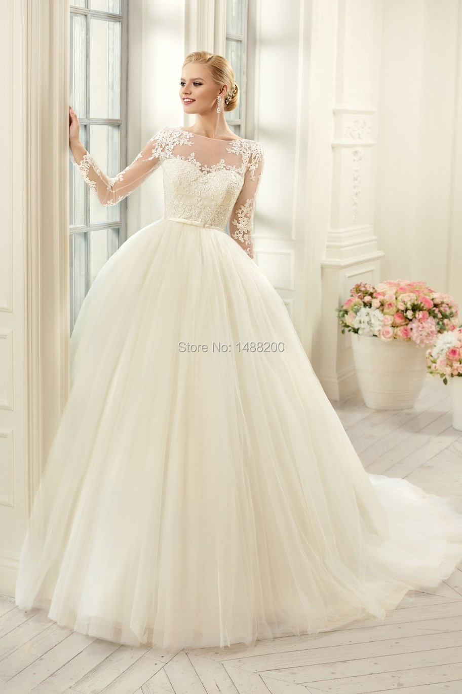 Muslim Plus Size Long Sleeves Lace Wedding Dresses 2016 Sexy See Through Cors