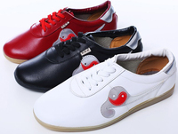 ソフト牛革太極拳の靴、練習武道の靴