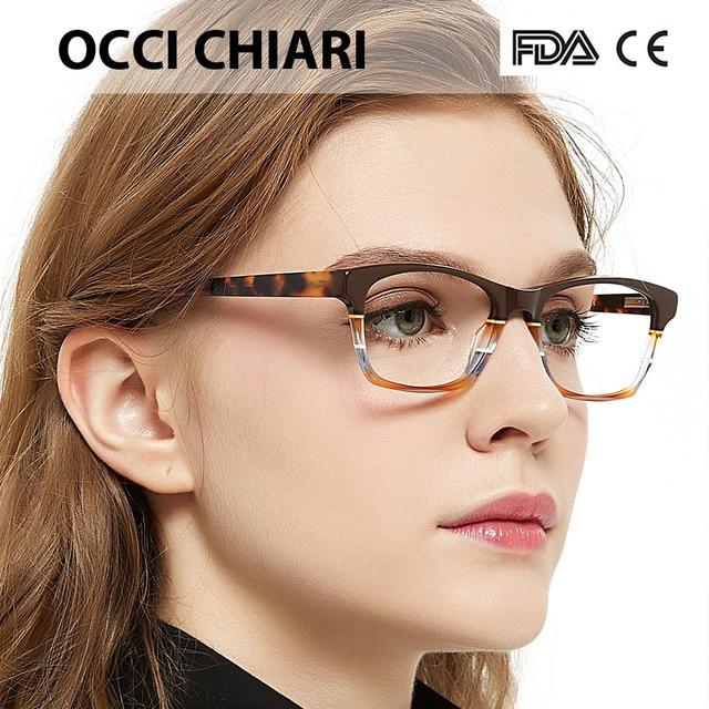 OCCI CHIARI HandMade włochy rzemiosło soczewki na receptę medyczne okulary optyczne na receptę jasne ramki okularów CEREA