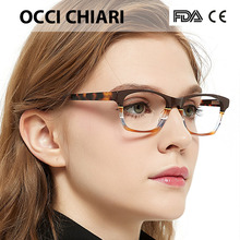 OCCI Fatti A Mano Italia artigianato Lente di Prescrizione Medica CHIARI Occhiali da vista Ottico Chiaro Montature Per Occhiali CEREA