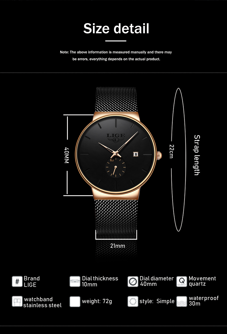 HTB1BnUpe81D3KVjSZFyq6zuFpXae Relojes Hombre LIGE New Mesh Steel Men Watches Top Brand Luxury Ultra-thin Waterproof Quartz Watch Men Casual Sport Quartz Clock