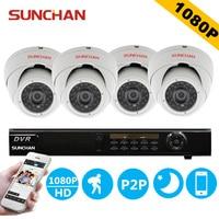 SUNCHAN Security Camera System 8ch CCTV System 4x 1080P Indoor Camera 2 0MP Camera Surveillance System