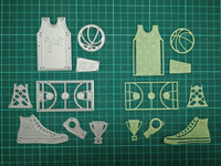 Basketball Metal Die Cutting Scrapbooking Embossing Dies Cut Stencils Decorative Cards DIY Album Card Paper Card