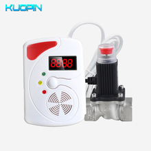 433MHz Wireless LED Display Voice Prompt LPG LNG Coal Natural Combustible Gas Detector+DN15 DN20 1/2 3/4 Automatic Gas Valve 433mhz wireless led display voice prompt lpg lng coal natural combustible gas detector dn15 dn20 1 2 3 4 automatic gas valve