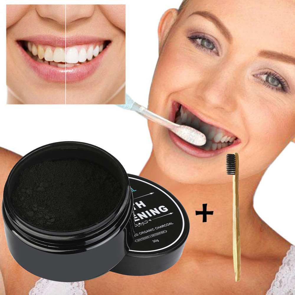 Newest 30g/60g/120g Teeth Whitening Powder Natural Organic Activated Charcoal Bamboo Toothpaste Unique Active Formula 2018 Anne