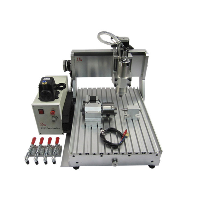 No tax,just for EU,water cooling spindle 1500w cnc drilling machine 3040 4axis with USB port russia tax fre cnc mill usb port 4 axis rotary aixs 3040 mini cnc milling machine 1500w spindle with water tank spray
