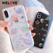 New Space planet Moon phone case for iphone 6 6S 7 8 plus X Case Universe constellation star cover XS Max XR