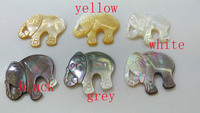5pcs Pearl shell Pendant elephant white animal jewelry beads mother of pearl beads supplies mop beads grey black yellow
