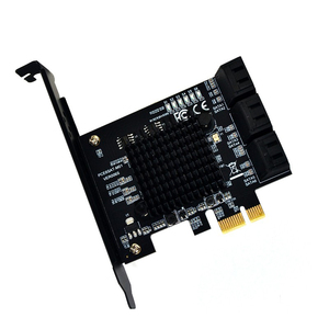 Image 2 - HOT For Marvell 88Se9215 Chip 6 Ports Sata 3.0 To Pcie Expansion Card Pci Express Sata Adapter Sata 3 Converter With Heat Sink