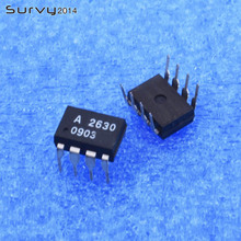 5pcs/lot A2630 HCPL-2630 DIP-8 8 HIGH SPEED-10 MBit/s LOGIC   new and original IC In Stock free shipping 5pcs lot at350v hcpl t350v t350v line new original