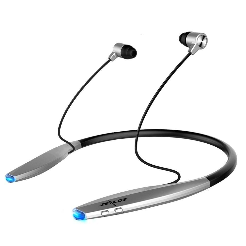 imágenes para H7 Bluetooth Auriculares ZELOTE con Imán de Atracción, delgado Deporte Banda Para El Cuello Auriculares con Micrófono Inalámbrico de Auriculares Para el iphone Android