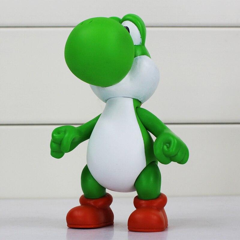 12cm 5 styles Yoshi Figure Super Mario Bros Yoshi PVC Figures Toys ...
