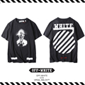 Best Version New Arrival 2017 Spring Summer OFF WHITE Arc Twill Skeleton Men And Women Hip Hop Short-sleeve Cotton T-shirt