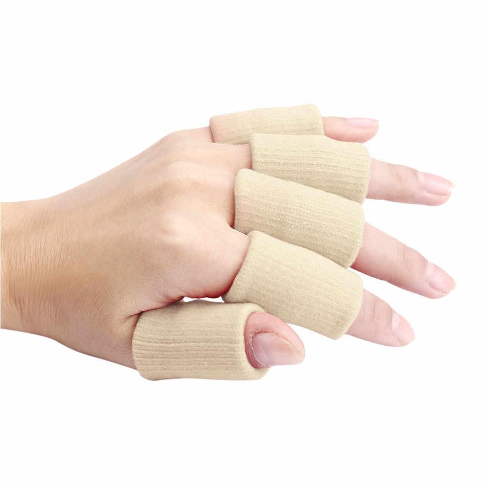 10pcs Stretch Basket Protezione per le Dita Manicotti di Supporto per Lo Sport Palestra Work-out Anello di Barretta Guardia Manicotti di Supporto