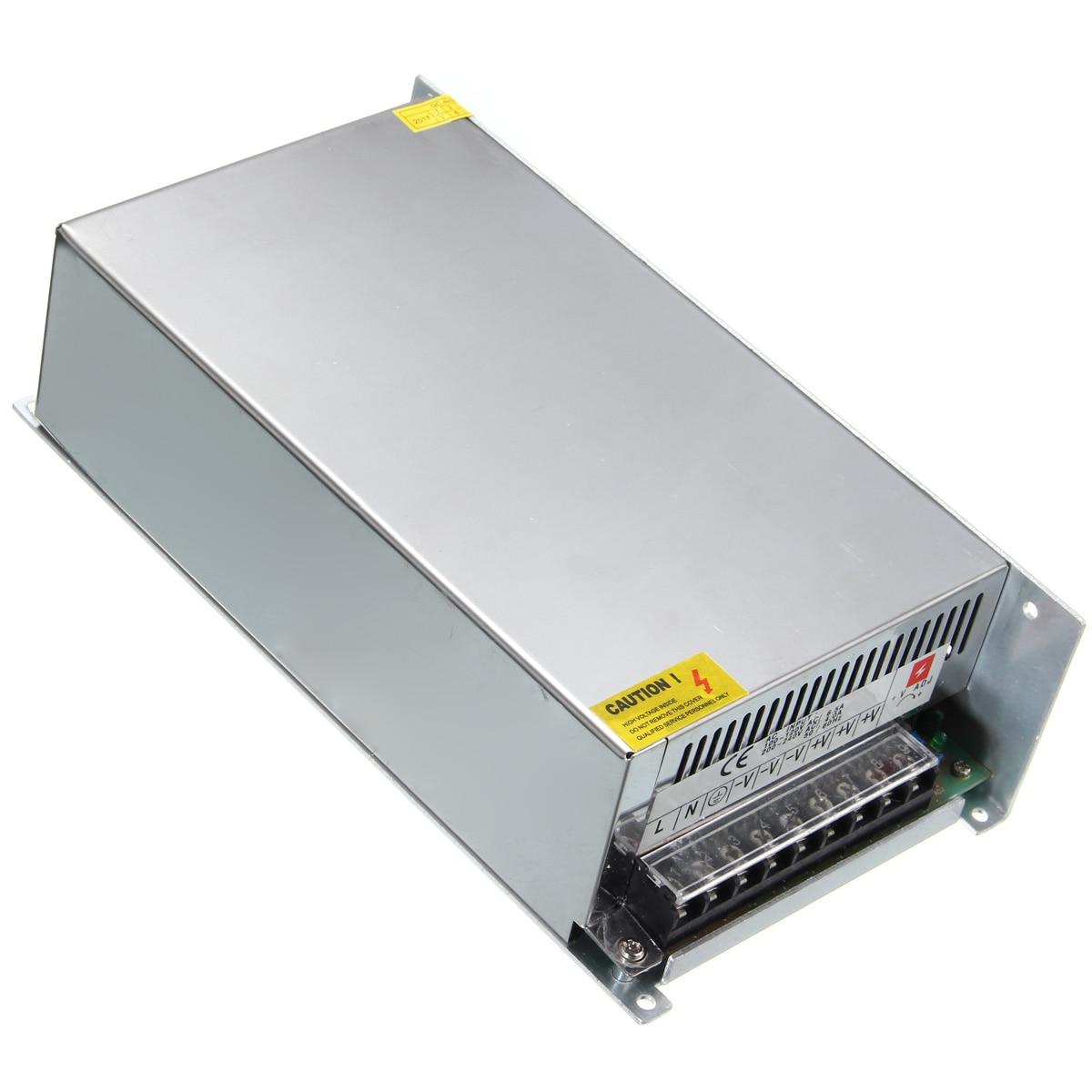 Smuxi Universal AC110V/AC220V Para DC 48 V 20A 1000 W Interruptor de Alimentação Motorista Transformador Adaptador