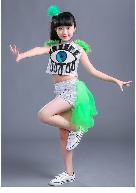 Los niños danza Jazz ropa lentejuelas ropa Hip Hop traje de baile moderno  baile fec88620ccc