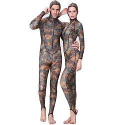 Mounchain hommes Camouflage résistant aux ultraviolets à manches longues à capuchon épais crème solaire méduse surf natation plongée combinaison