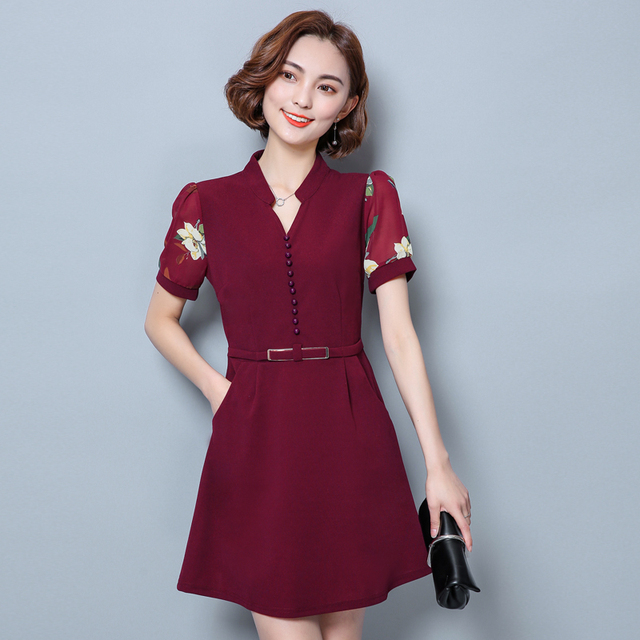 Wine colored womens dresses