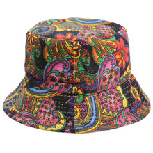 NEW-Women Flower Bucket Hat Boonie Hunting Fishing Outdoor C