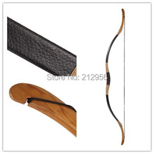 Longbowmaker Traditional Chinese Longbow Black Leather Horsebow Handmade Archery 20-80LBS QSC