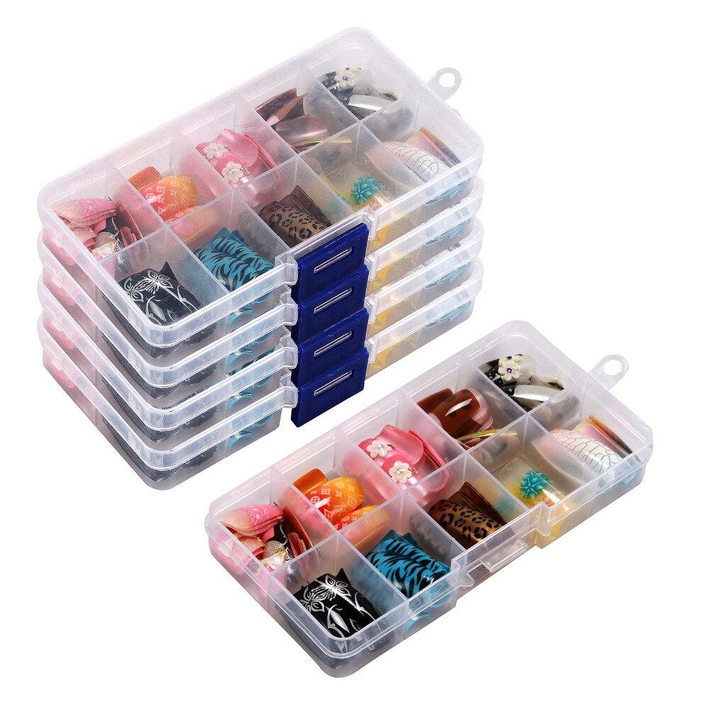 100 pçs 10 cor aleatória francês falso prego acrílico gel dicas da arte do prego metade com caixa salão de beleza 1 conjunto kit