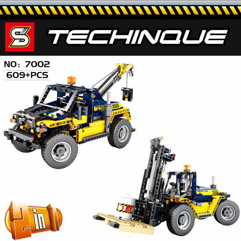 Technic сверхмощный вилочный погрузчик совместимые legoINGlys creator модель грузового автомобиля строительные блоки кирпичи игрушки для детей подарок на день рождения