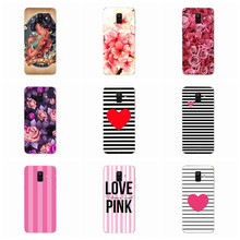 For Samsung Galaxy A600 A600F Case A6 2018 Cases Fundas TPU Colorful Soft Flora Cat pink Heart Painted Case E015(China)
