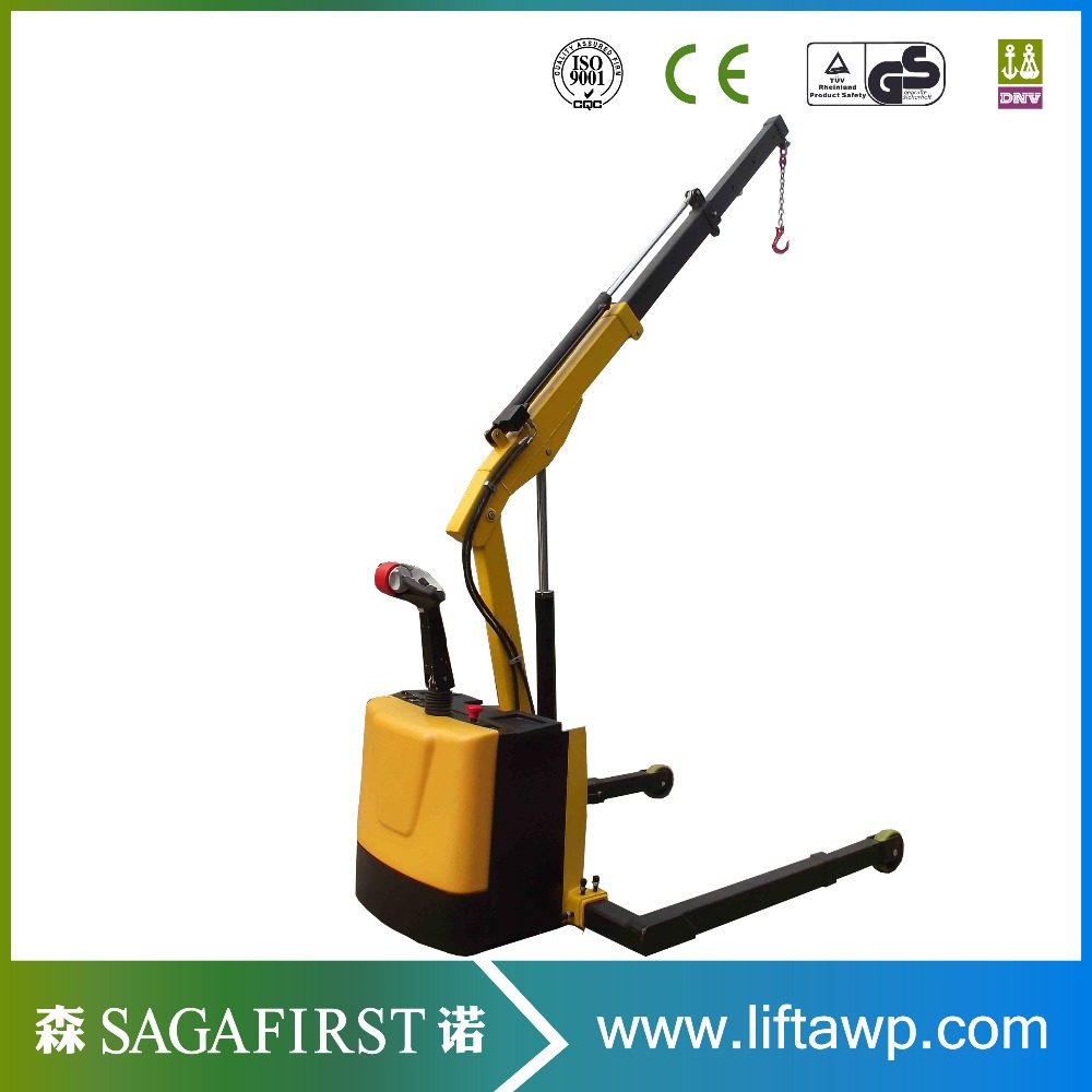 1000kg Warehouse Folding Crane Electric Hydraulic Crane Lifter