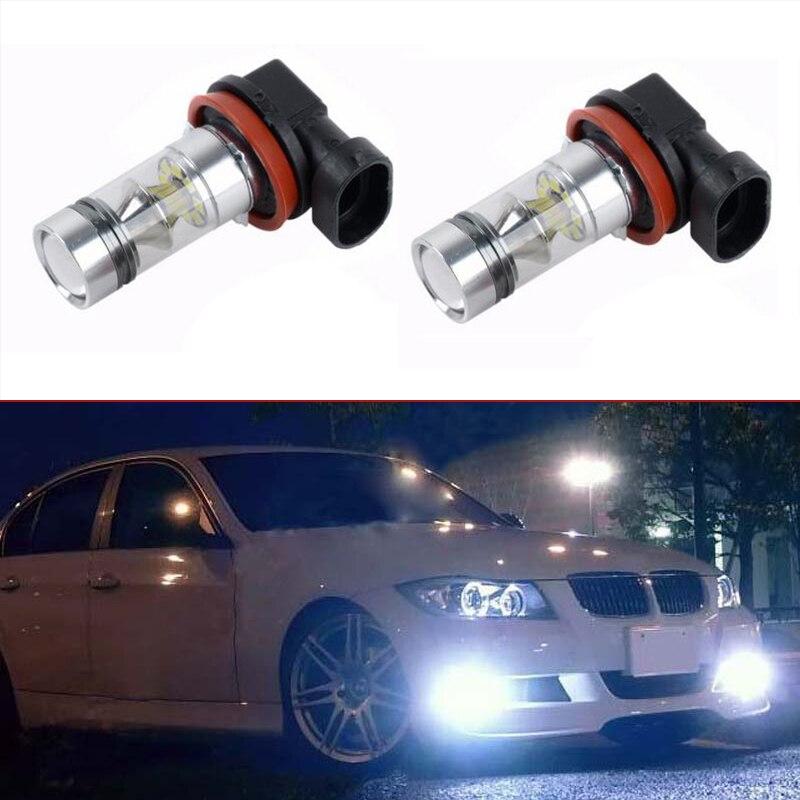 No error 2x High Power Led White H11 Fog Lights Lamps For BMW E90 325 328 335i