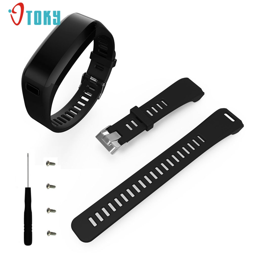Excellent Quality Fashion Sports Silicone Band Strap Bracelet + Tool For Garmin Vivosmart HR Dropship