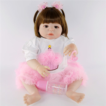 Wholesale DOLLMAI 55cm Reborn Baby Dolls Silicone blue eyes Dolls hard body Can be washed For Children's Christmas Xmas Gift