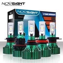 NOVSIGHT H4 светодио дный H7 H11 автомобиля светодио дный фары 60 Вт 16000LM H8 H9 9005 9006 вождения Туман лампочки играть и Pluy Противотуманные огни 6500 K