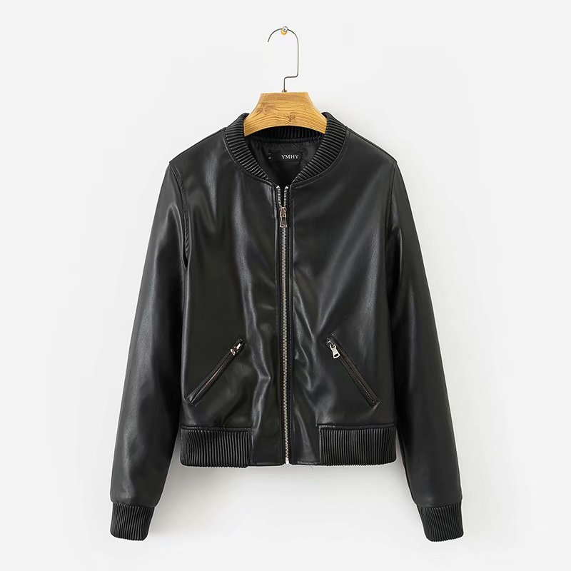 Hot sale XD55-1915 European and American fashionable wind-elastic   leather   jacket