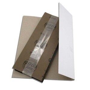 """Image 5 - Papier abrasif étanche 42 pièces 320 à 10000 grain, 9 """"x 3.6"""", pour la finition de meubles en bois, le ponçage des métaux et le polissage automobile"""