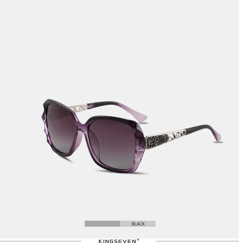KINGSEVEN Sunglasses Women Gradient Polarized Diamond Frame Sun Glasses For Driving Luxury Lady Shades Eyewear Accessories 7538 8